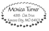 Custom Self Inking Paw Print Address Stamp