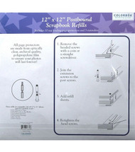 "Colorbok 12"" x 12"" Postbound Refill Pages - 10 pk"
