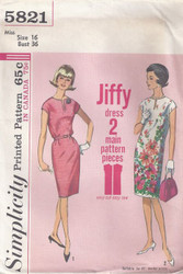 Vintage Simplicity 5821 Sewing Pattern