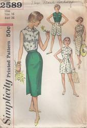 Vintage Simplicity 2589 Sewing Pattern