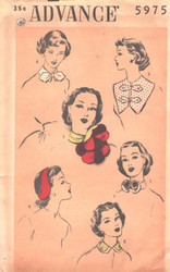 Factory Folded Vintage Advance 5975 Sewing Pattern