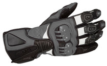 ARMR Moto S235 Sports Motorcycle Gloves - Black / Grey