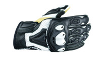 ARMR Moto SHL445 Motorcycle Gloves - Black / White