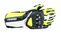 ARMR Moto S460 Motorcycle Gloves - Black / Flu Yellow