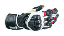 ARMR Moto S470 Motorcycle Gloves - Red / White / Black