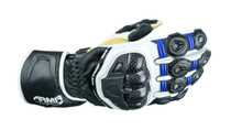 ARMR Moto S470 Motorcycle Gloves - Blue / White / Black