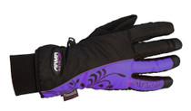 ARMR Moto LWP225 Ladies Gloves - Black / Purple