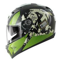 Shark S700S Trax Helmet - Black / Green / White