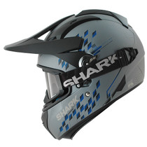 Shark Explore R Arachneus Helmet - Matt Silver / Blue / Black