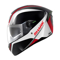 Shark SKWAL LED Spinax Motorcycle Helmet - Black / White / Red