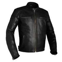 Richa Daytona Leather Motorcycle Jacket - Black