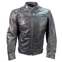 Richa Cafe Leather Motorcycle Jacket - Black
