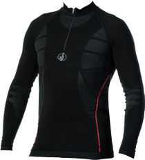 Carbon Energised - Long Sleeve Shirt with Zip Collar