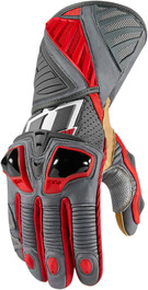 Icon Hypersport Pro Long Gloves - Red