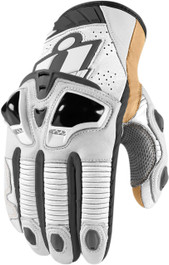Icon Hypersport Pro Short Gloves - White