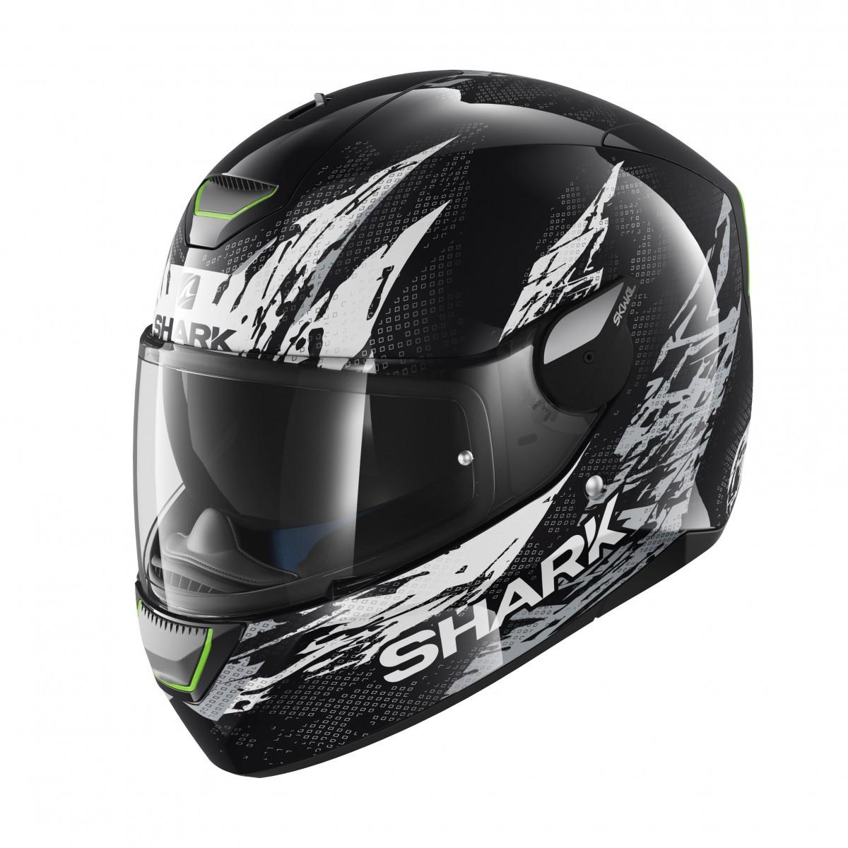 fab2664a Shark SKWAL Ellipse Helmet - Black / White | Bolt Bikes - Free UK Delivery