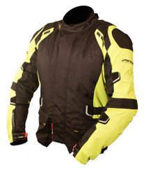 ARMR Moto Kumaji Textile Motorcycle Jacket - Black / Yellow