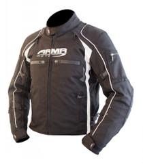 ARMR Moto Ukon Textile Motorcycle Jacket - Black / White