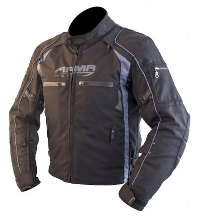 ARMR Moto Ukon Textile Motorcycle Jacket - Black / Grey
