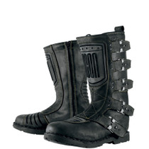 Icon 1000 Elsinore Motorcycle Boots - Johnny Black