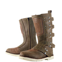 Icon 1000 Elsinore Motorcycle Boots - Oiled Brown