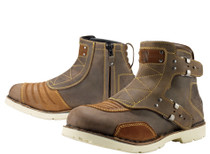 Icon 1000 El Bajo Motorcycle Boots - Oiled Brown
