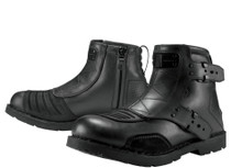 Icon 1000 El Bajo Motorcycle Boots - Johnny Black