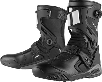 Icon Raiden DKR Waterproof Boots - Black