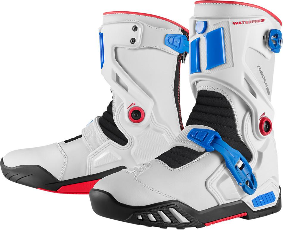 57fc9295c66 Icon Raiden DKR Boots - Blue / Red / White