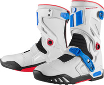 Icon Raiden DKR Waterproof Boots - Blue / Red / White