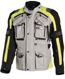 Richa Touareg 3 in 1 Textile Motorcycle Jacket - Grey / Flou Yellow