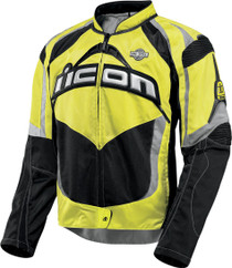 Icon Contra Mil-Spec Textile Motorcycle Jacket - Yellow