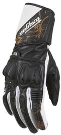 Furygan RG-18 Lady Sports Motorcycle Gloves - Black / White