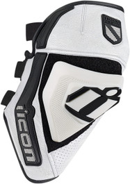 Icon Cloverleaf Knee Armour - White