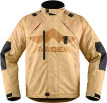 Icon Raiden DKR Textile Adventure Motorcycle Jacket - Tan