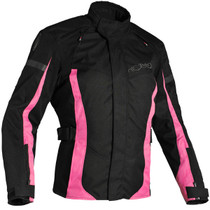 Richa Biarritz Textile Touring Ladies Jacket - Black / Pink
