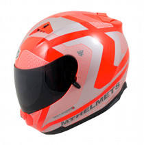 MT Blade SV Reflexion Full Face Helmet - Orange