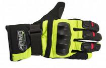 ARMR Moto WP525 Waterproof Gloves - Black / Yellow