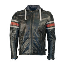 Richa Toulon Leather Jacket - Black / RedRicha Toulon Leather Jacket - Black / Red