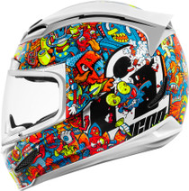 Icon Airmada Doodle Helmet - White
