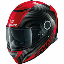 Shark Spartan Carbon Skin Helmet - Black / Red