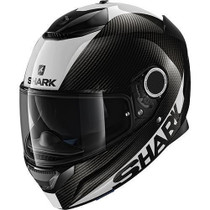 Shark Spartan Carbon Skin Helmet - Black / White