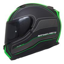 MT Blade SV Raceline Helmet - Matt Black / Green