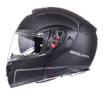 MT Atom Flip Front Helmet - Matt Black