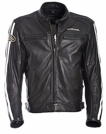 Richa Retro Racing Leather Jacket - Black