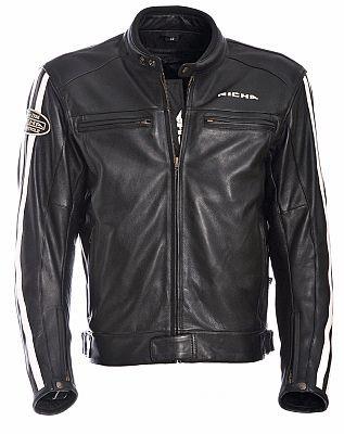 Richa Retro Racing Leather Jacket - Black