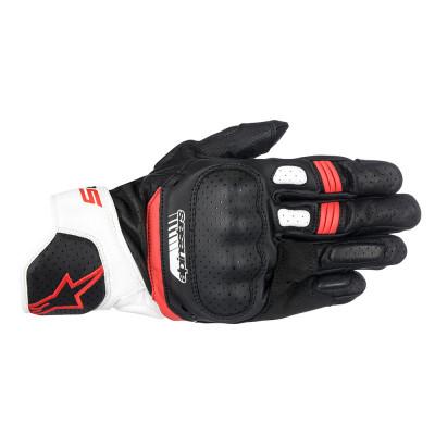 Alpinestars SP-5 Gloves - White / Red