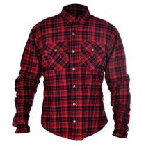 Oxford Kickback Kevlar Shirt- Red / Black