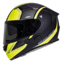MT KRE SV Momentum Helmet - Matt Black / Titanium / Flu Yellow