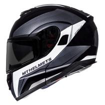 MT Atom Tarmac Flip Front Helmet - Black / White